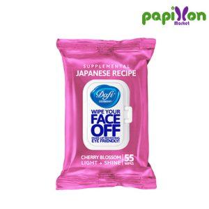 دستمال مرطوب فیس آف گیلاس ژاپنی دافی