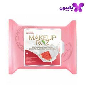 دستمال مرطوب پاک کننده آرایش هندوانه میکاپ رز