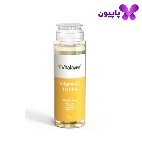 تونر ویتامینC پوست نرمال و خشک ویتالیر