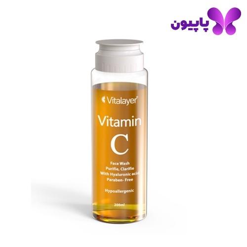 ژل شستشوی ویتامینC پوست نرمال و خشک ویتالیر